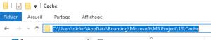 Le cache contient un certain nombre de fichier, qu'il faut totalement supprimer