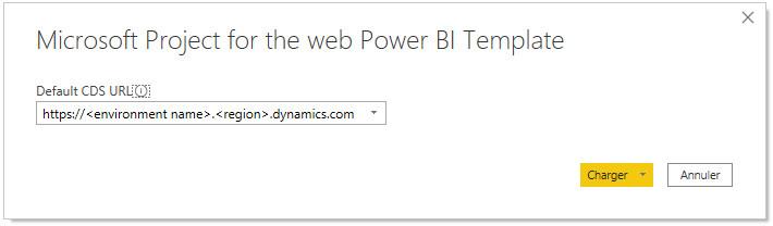Page de paramètre de Power BI pour P4TW